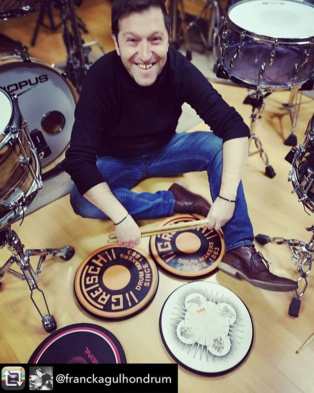 Repost from @franckagulhondrum - Au pays du Pad , à Toulouse ! A l'école Drum and Groove de Pierre Ancilotto !! #pierreancilotto #matthieudanesin #nicolascattai  #groove #drumming #drumminglife #tamadrums
