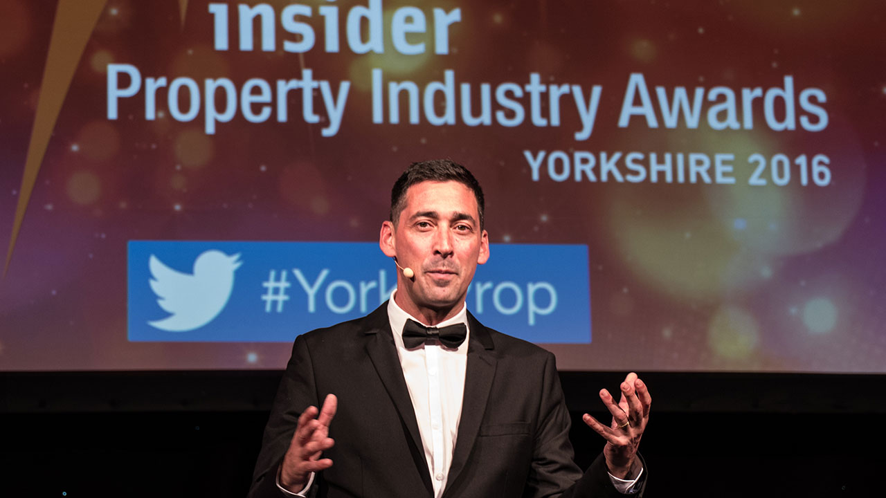 Compere Colin Murray introduces the show