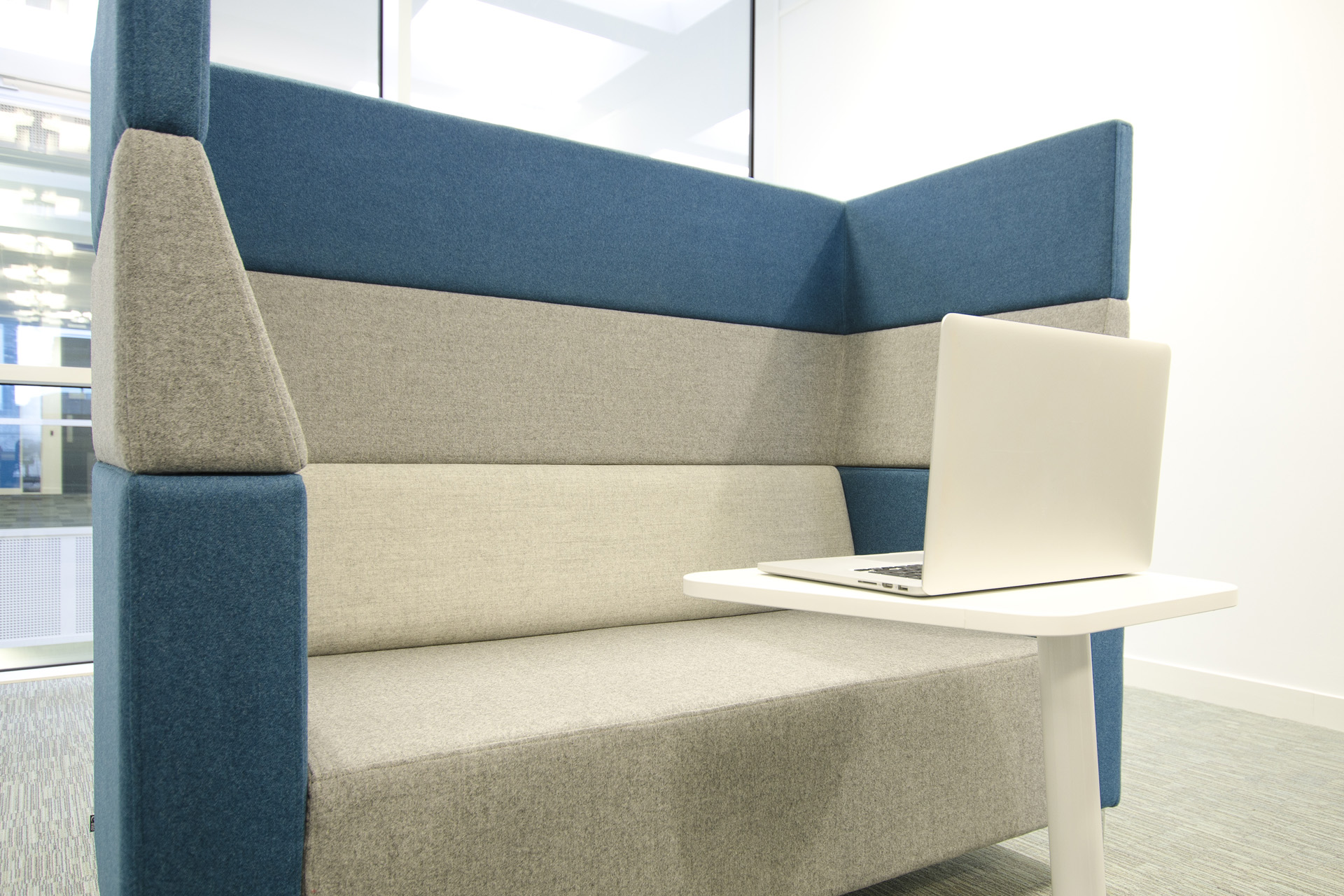 LifeSearch's new office space comprises many features of modern office trends.