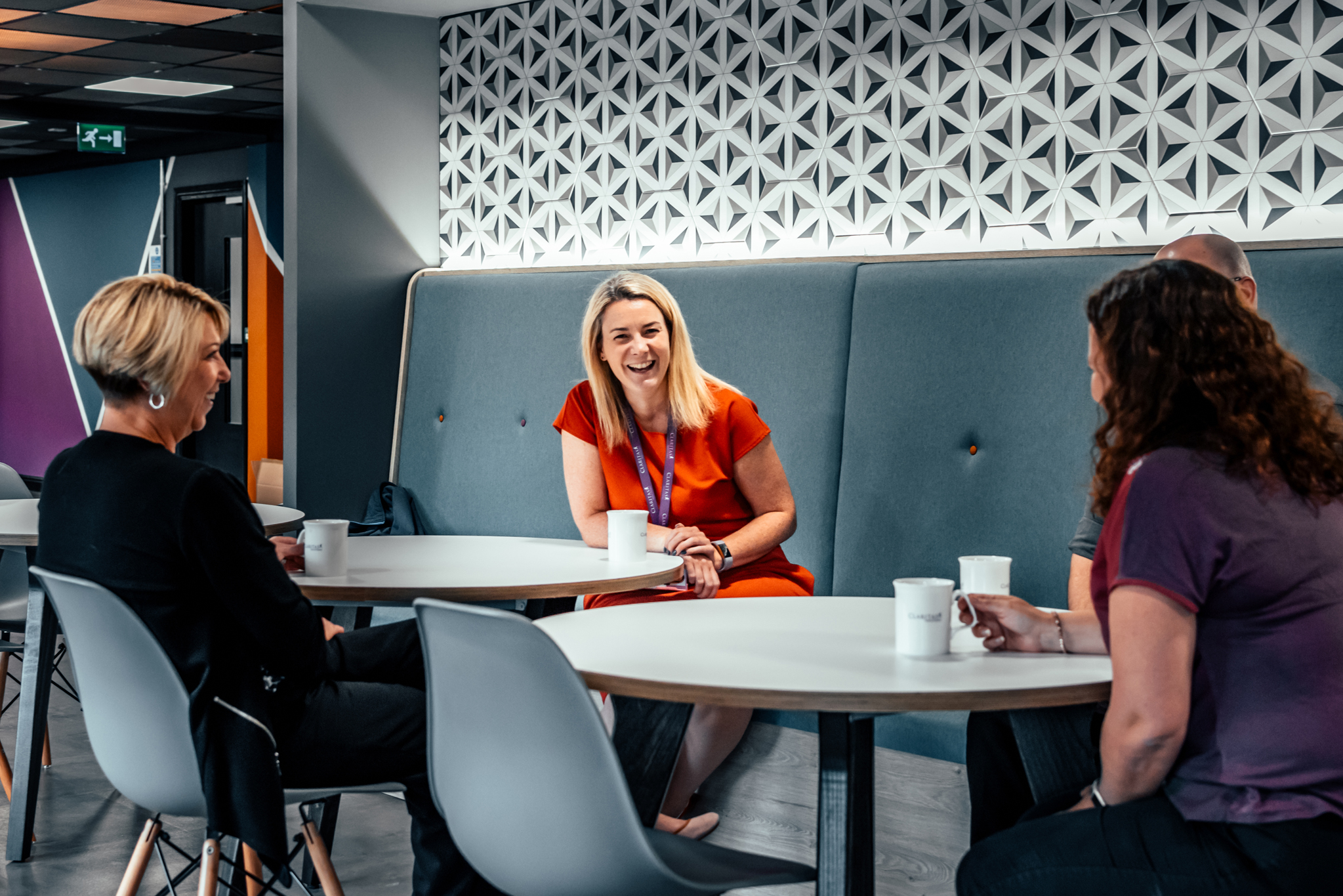 Breakout Area for Claritas Solutions by Absolute Commercial Interiors