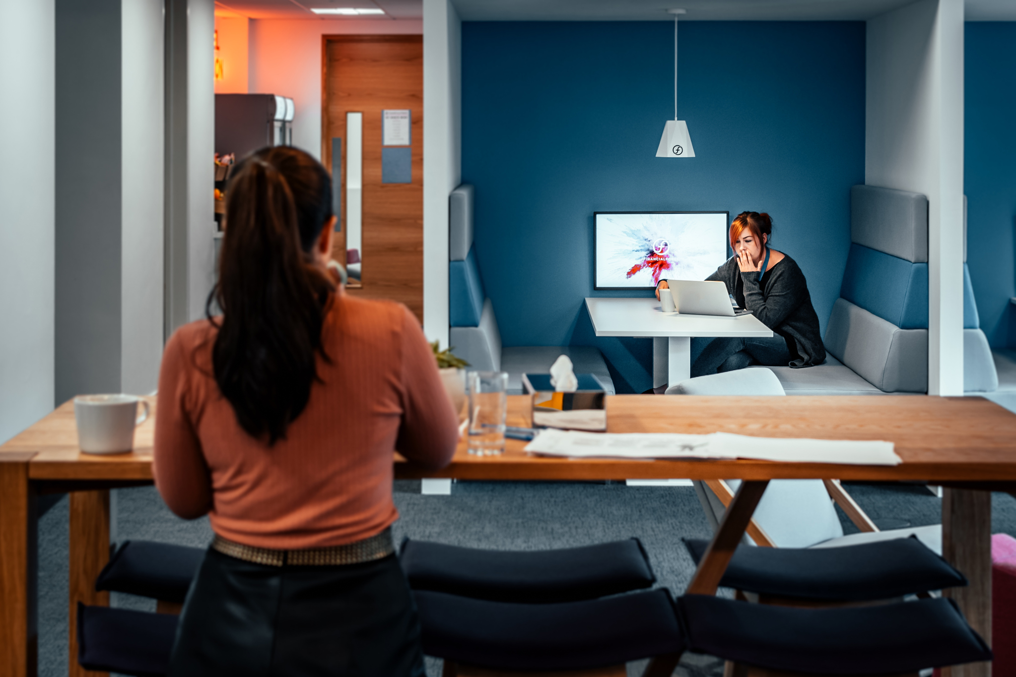 A flexible breakout space will provide your team with a wide range of uses //  FinancialForce, Harrogate