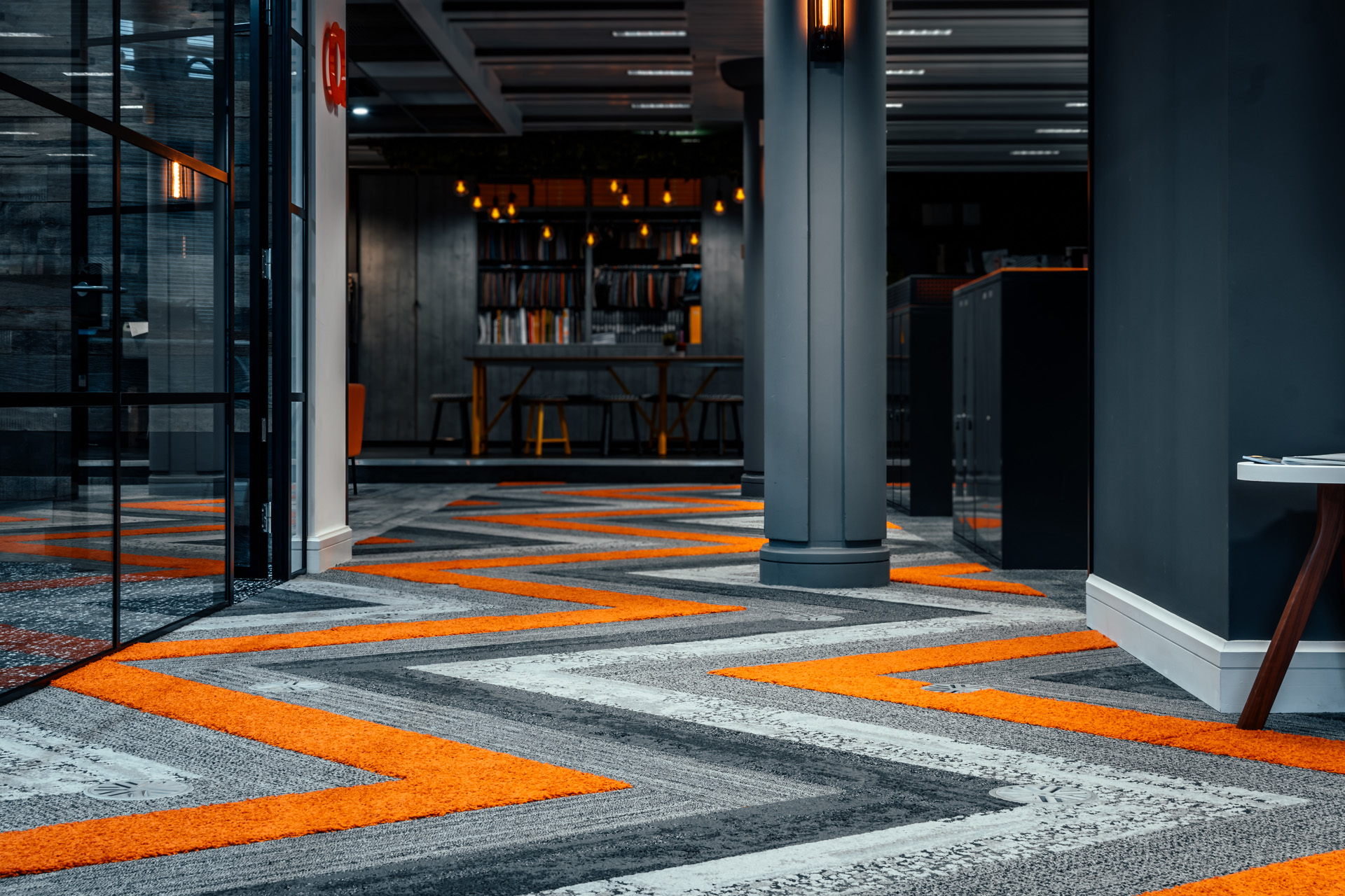 Textured Carpet Planks in Our HQ //  Absolute Commercial Interiors, Harrogate