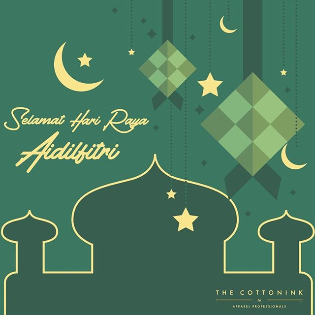 The Cottonink Family would like to Wish everyone Selamat Hari Raya Aidilfitri! We hope that you have a blessed day ahead with the people you love. Don't forget, The Cottonink Loves You too. 😘  #HariRayaAidilfitri #love #family #Thecottonink #silkscreen #blessings #peace #Malaysia #passionforprints #Kualalumpur #petalingjaya #friends