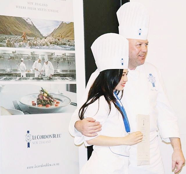 On my graduation day in late May 2014 with Chef Paul Dickens on the right.