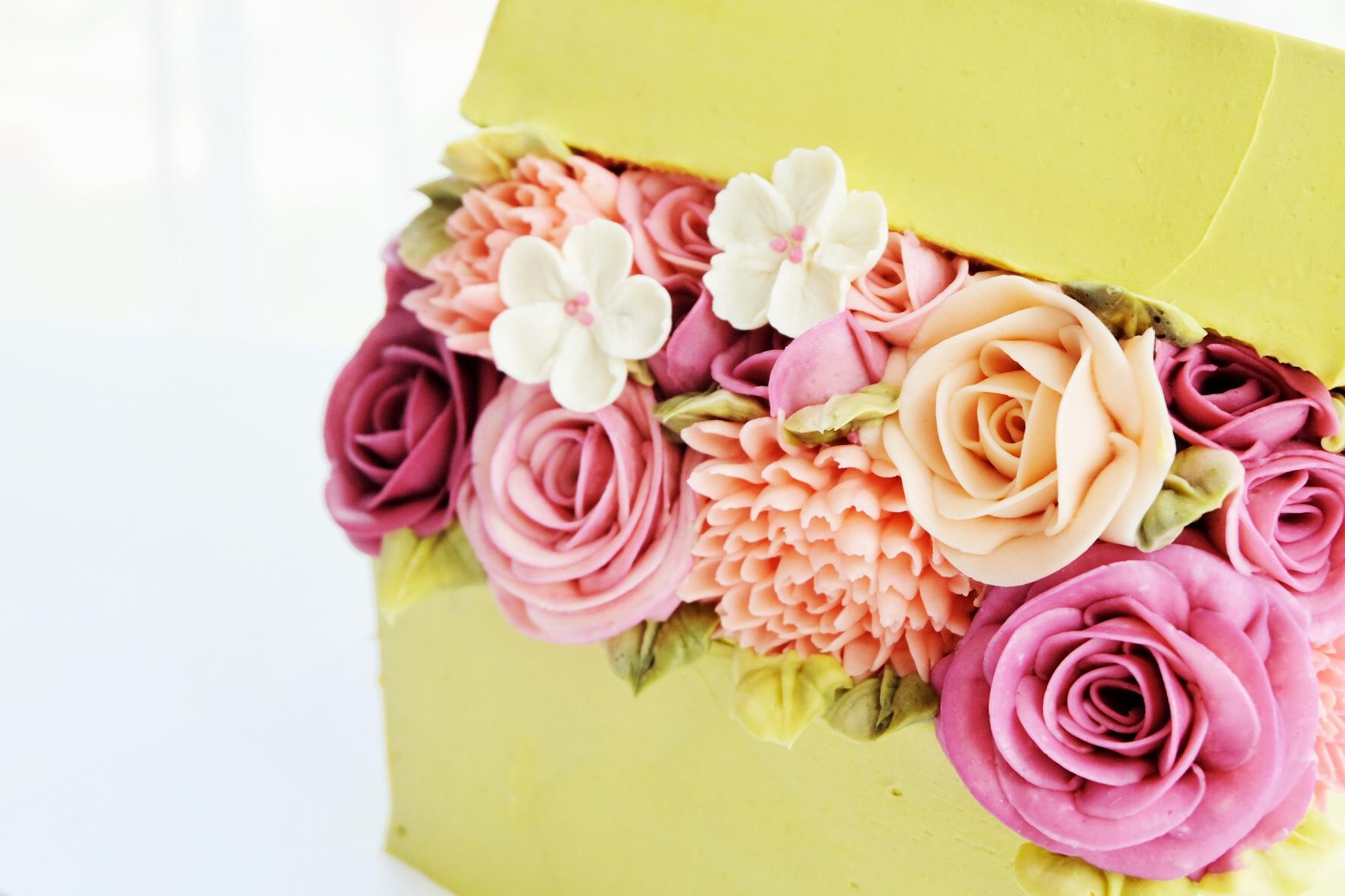 Detail of Buttercream Flower Box
