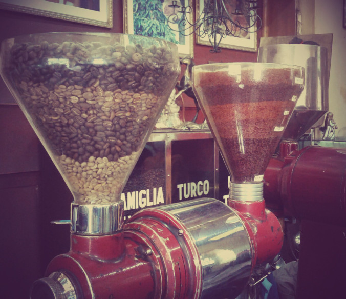 The retro feel of  Tomoca  adds to the atmosphere of this place…