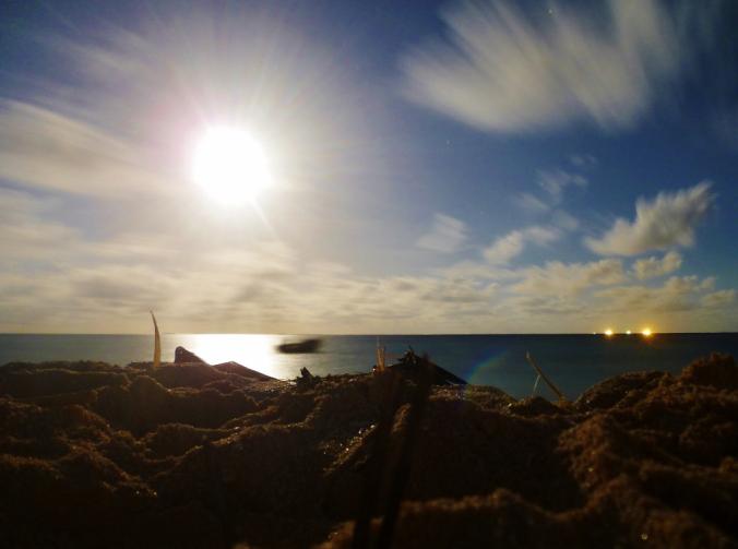 Long exposure moonrise on my last Tuvaluan night...