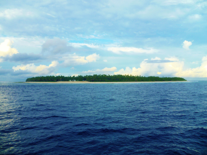 Niutao after four days at sea...