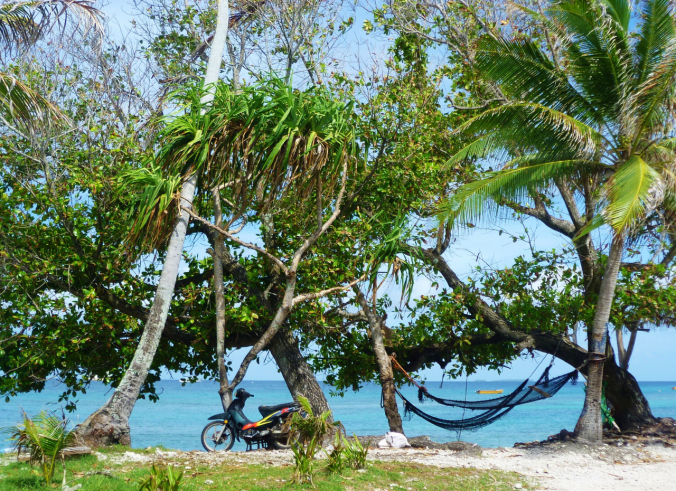 The humble motorbike - an integral part of Tuvaluan life...