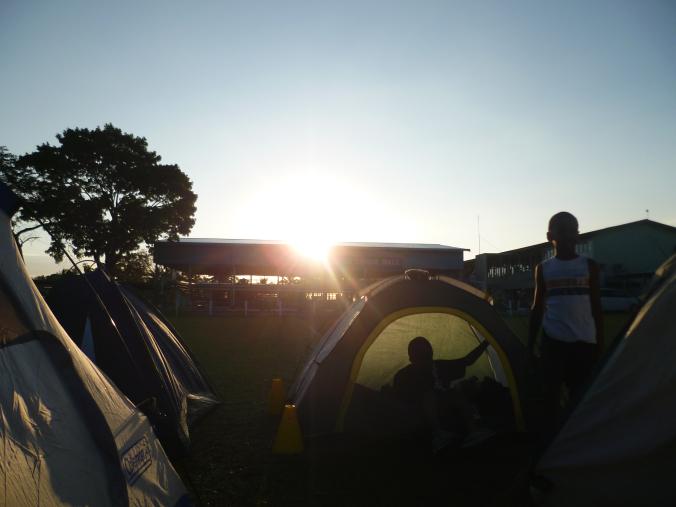 Early start on Fijian Scout camp...