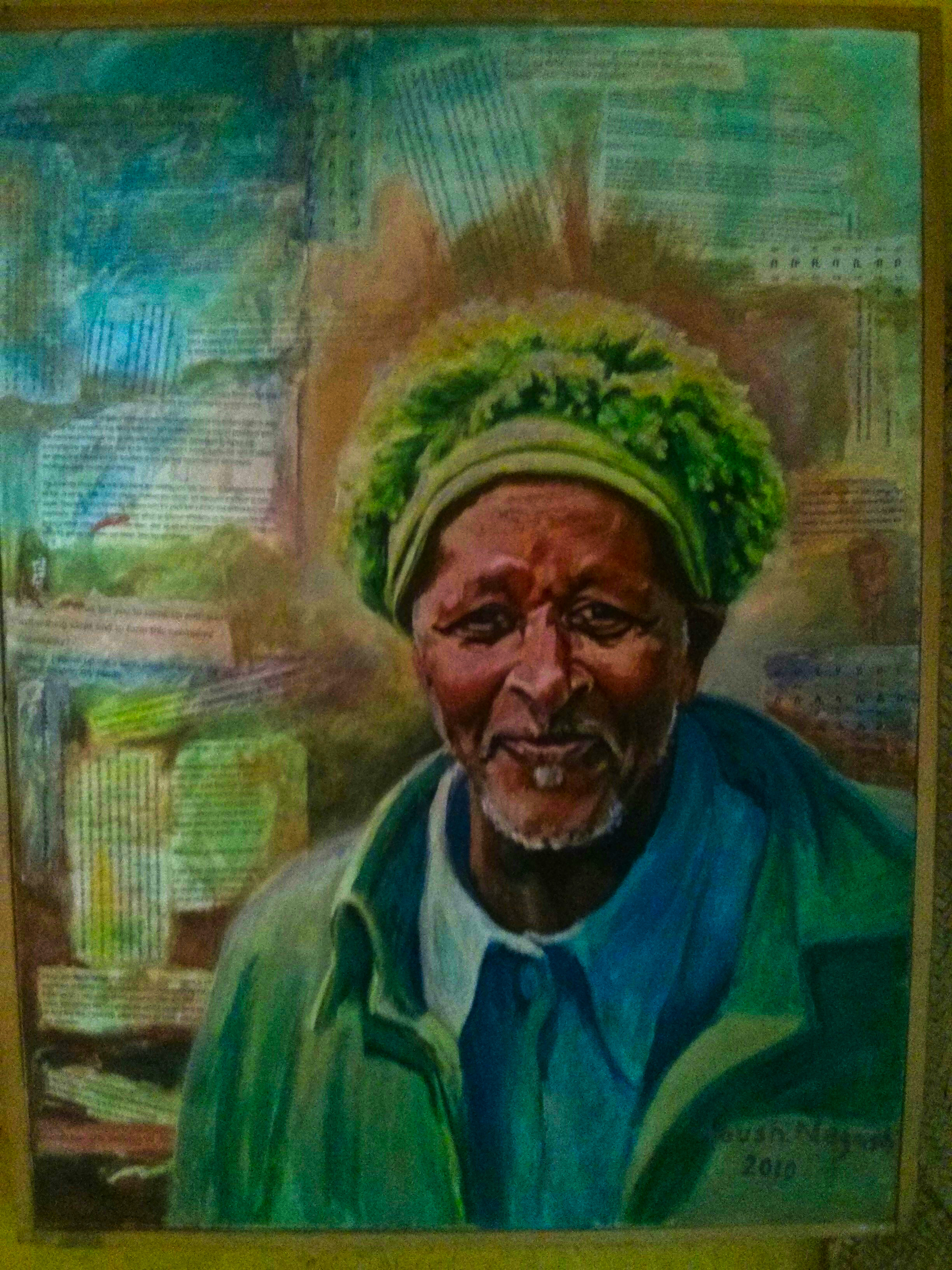 The founder of Awra Amba - Zumra Nuru as depicted on the wall of the community museum... (Photo Credit: Nick Colwill)