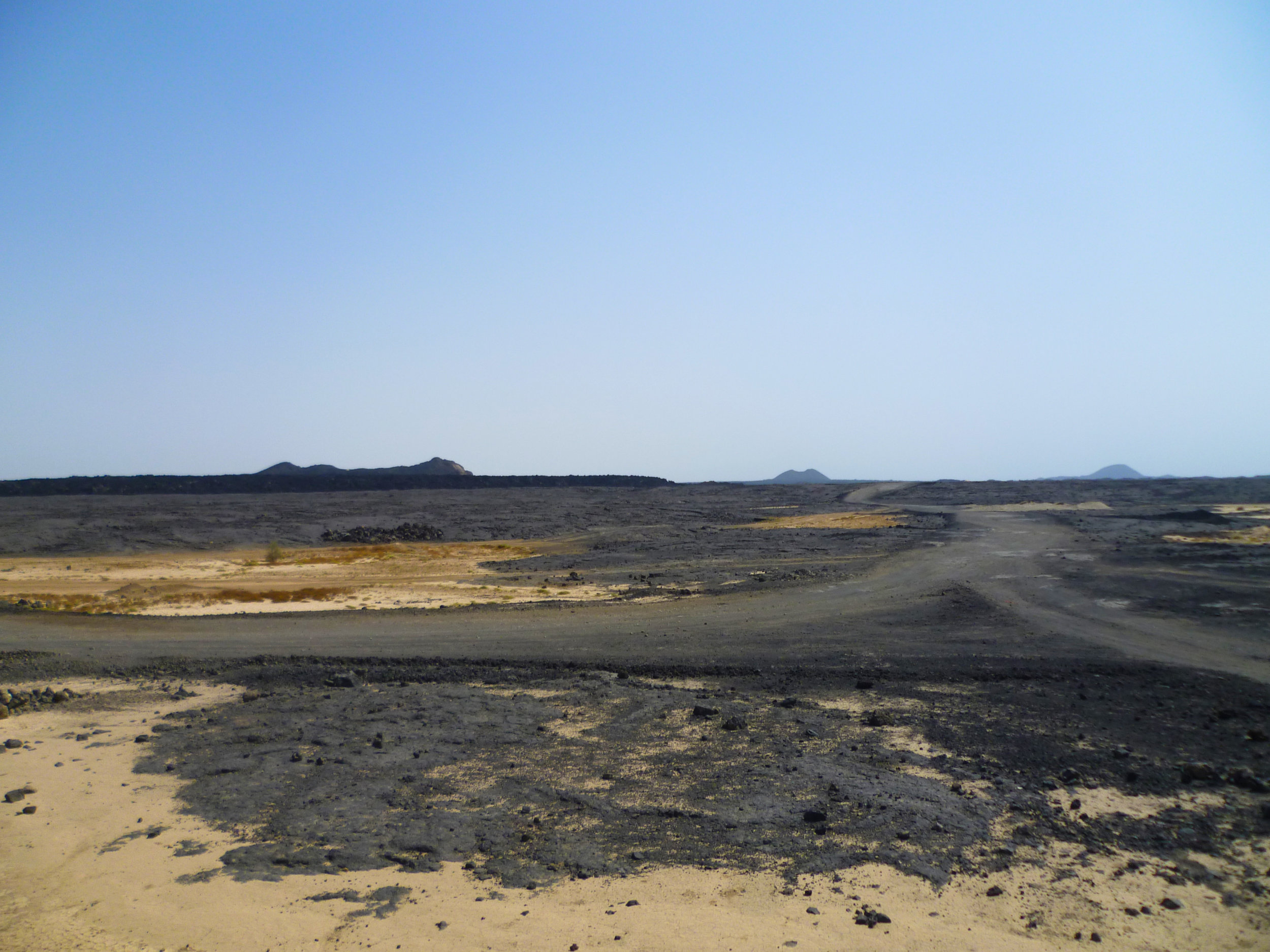 Next stop Djibouti - the road off into the desert...