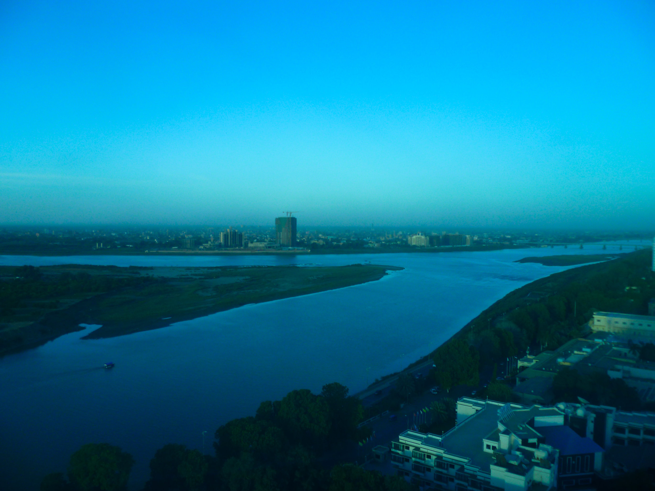 Blue tinged confluence courtesy of the 17th floor...
