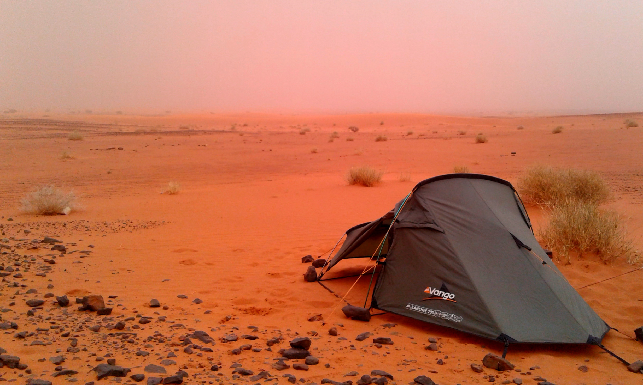 My trusty Vango Banshee 200 providing me some shelter from the sandy winds of the Sudanese desert…