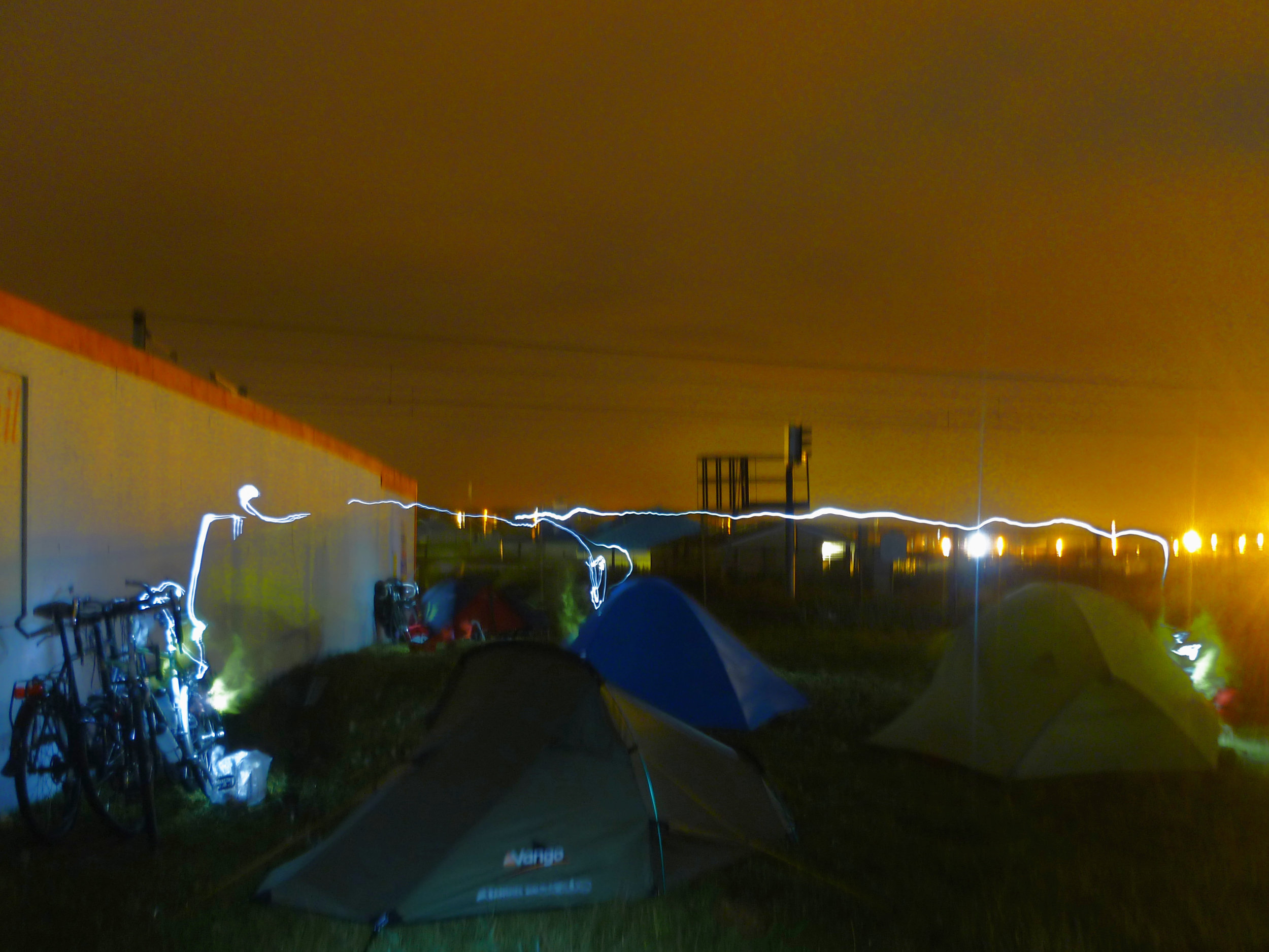 Not all wild camping spots are glamorous, but arriving late and leaving early can allow you to usually find somewhere to pitch your tent - even if that is next to a building site on the outskirts of a city…