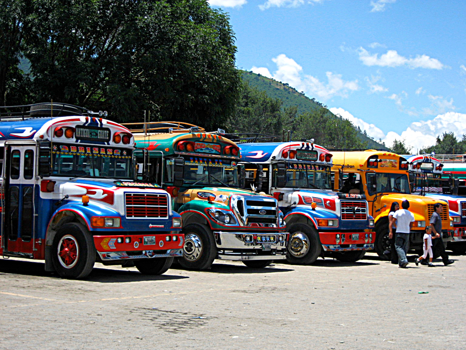 Which of these Guatemalan chicken buses do you fancy taking on your next adventure?