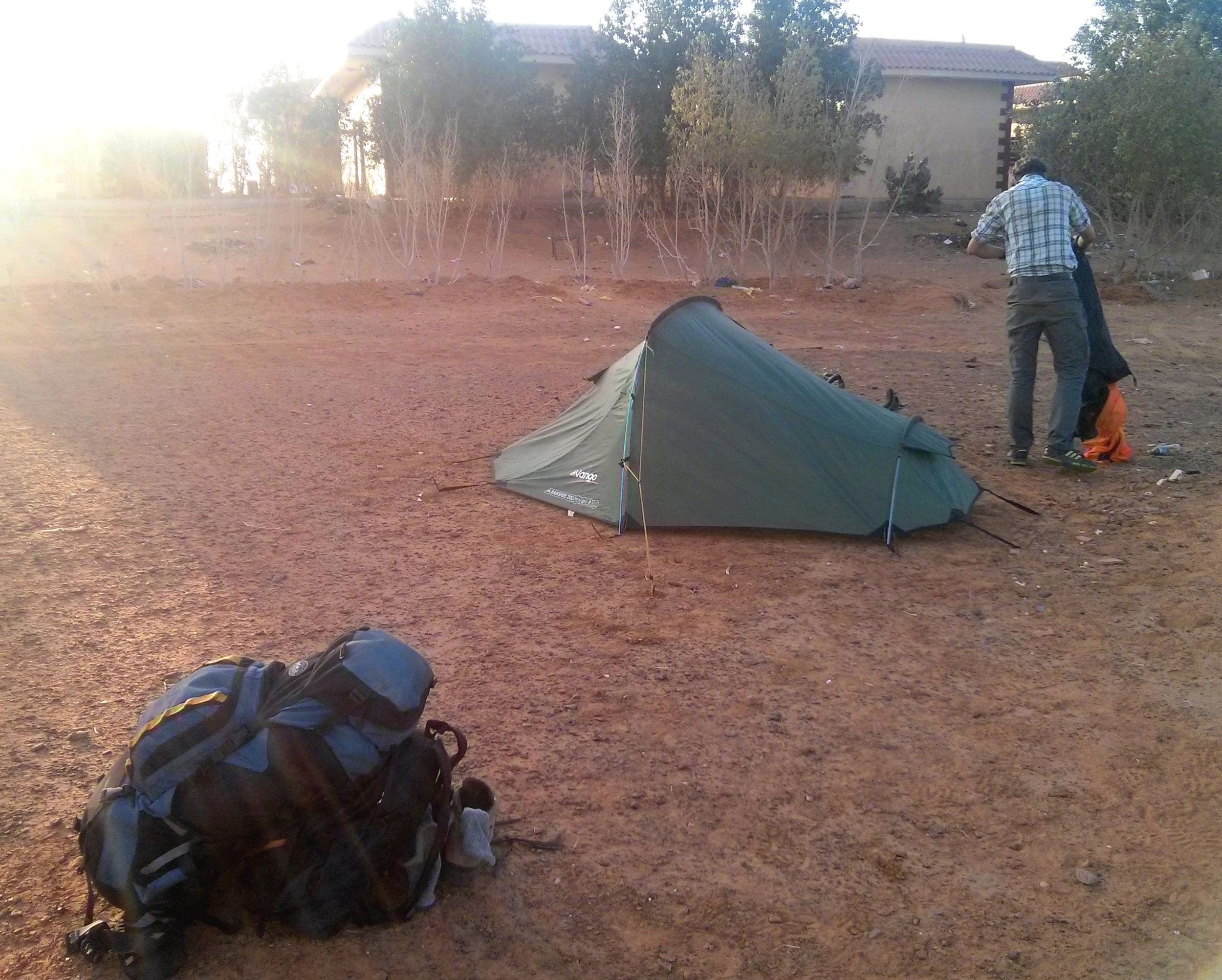 Certainly not the most glamorous camp spots, but undeniably convenient given the circumstances…