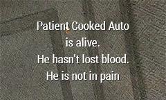 Example: Patient is uninjured