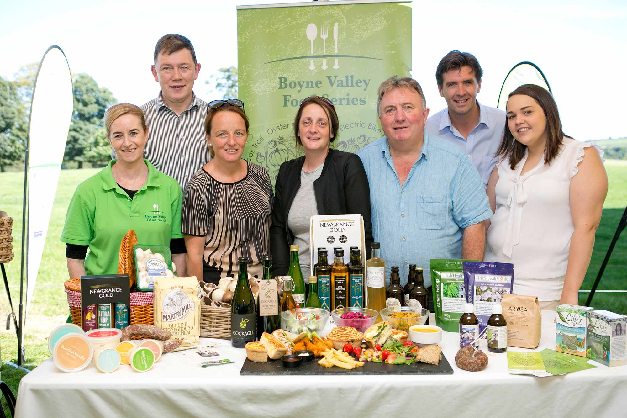 Members of the award winning Boyne Valley Food Series at the at the launch   The 2016 Point to Point and Country Fair at Dowth which will take place on Sunday 30 th  October.