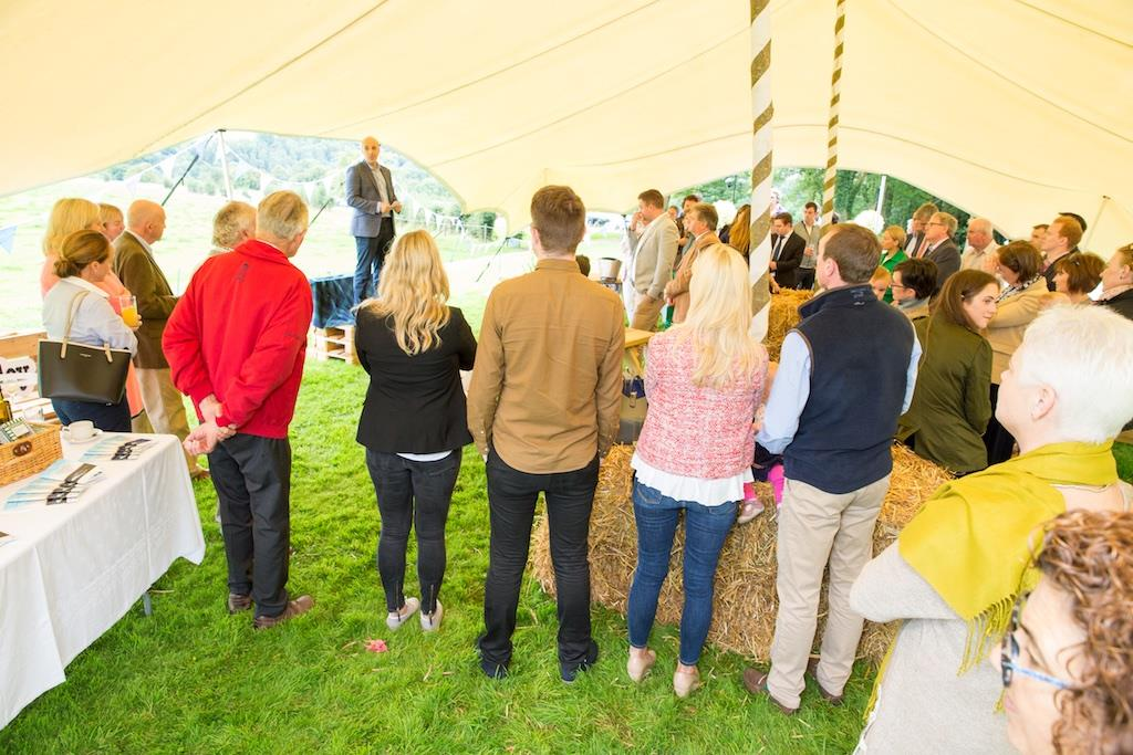 Listening to Geoffrey speak at the launch of the Point to Point and Country Fair at Dowth 2017.jpg