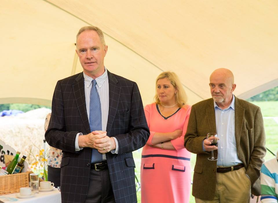 Owen Brennan Speaking at the Launch of the Point to Point and Country Fair at Dowth 2017.jpg