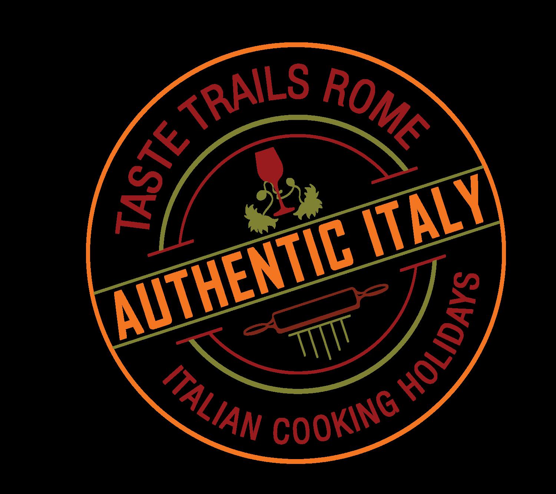 logo www.tastetrailsrome.com Italian cooking holidays