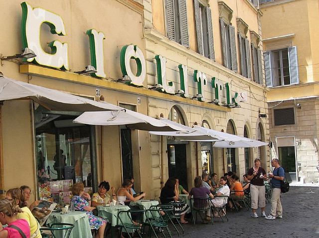 Italian Cooking Holiday www.tastetrailsrome.com Giolitti Rome