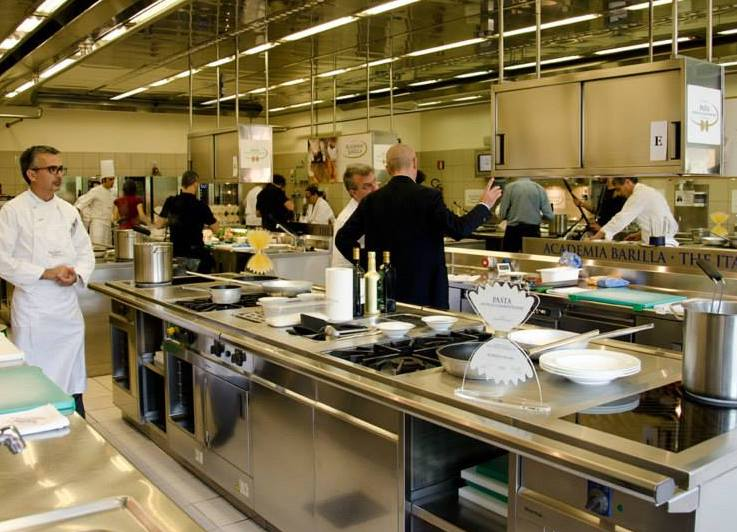 Barilla academia kitchen . tastetrailsrome.com