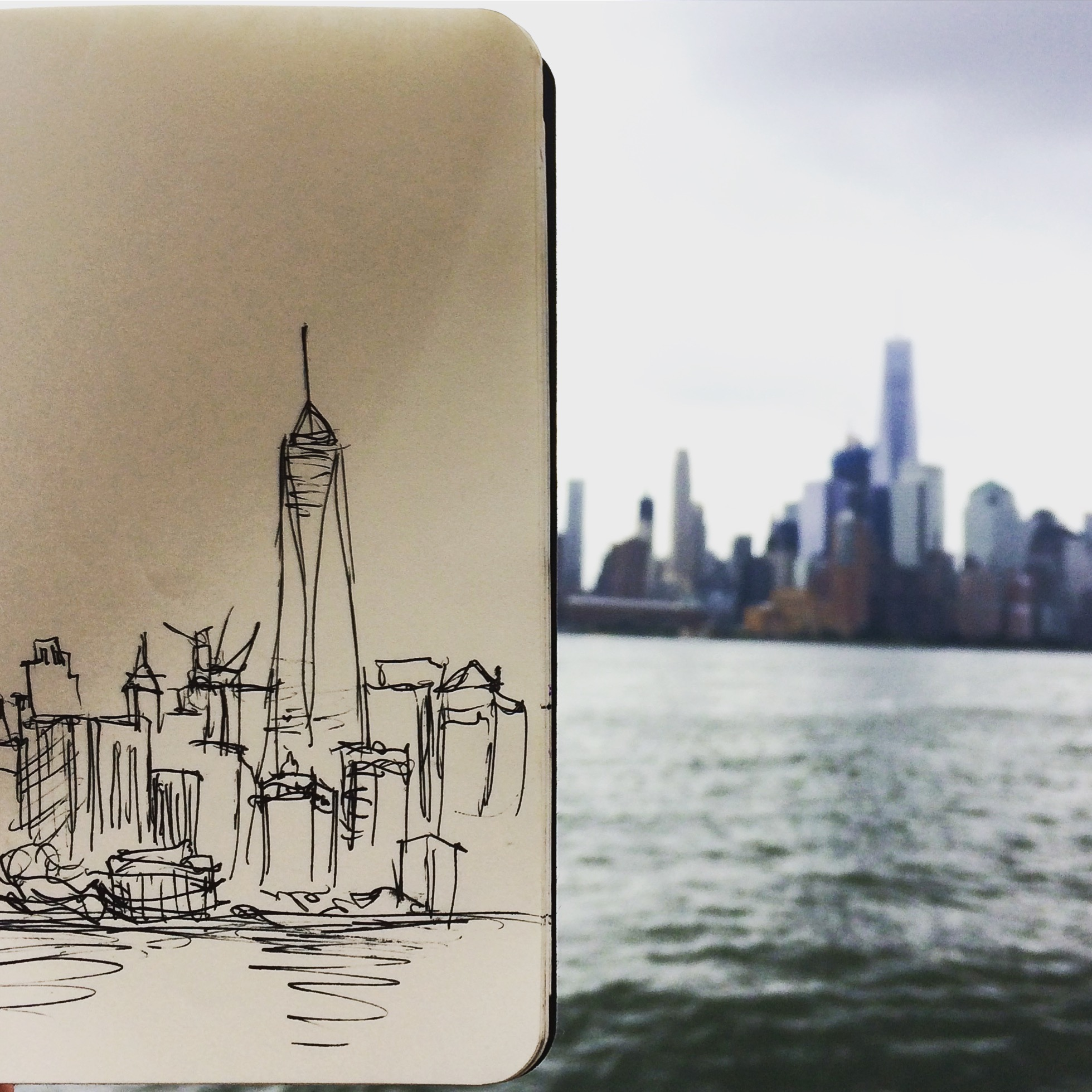 SKYLINE FROM THE HUDSON