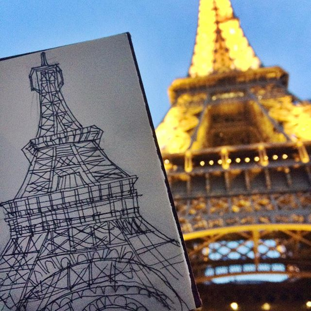 horrible 10 min drawing of beautiful structure that took 2+ years to build