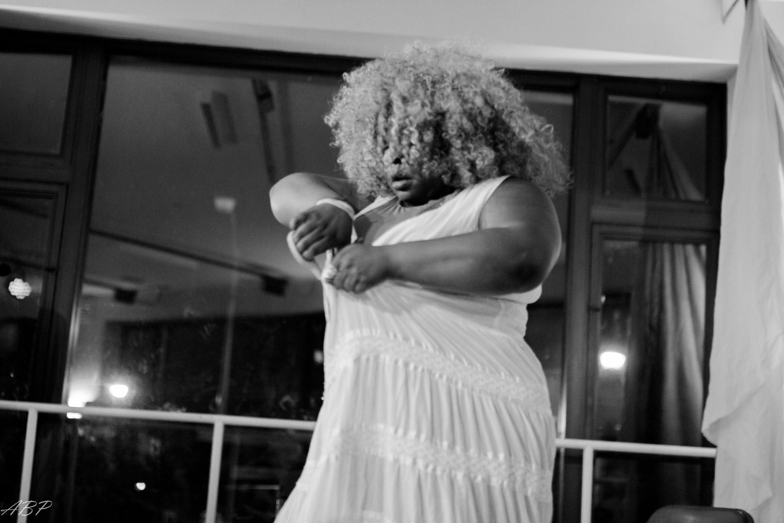 Ripping the dress during my performance at Black Sex Matters
