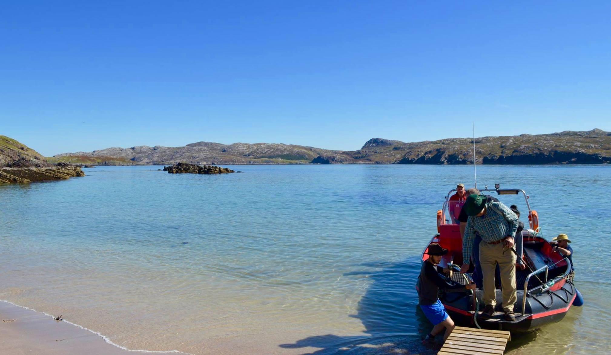 Landing at Handa Island