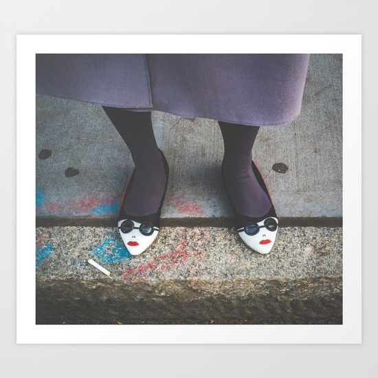 """""""Society Feet"""", one of the photos displayed for sale at this exhibition."""