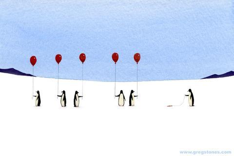 Greg Stones Art Penguin