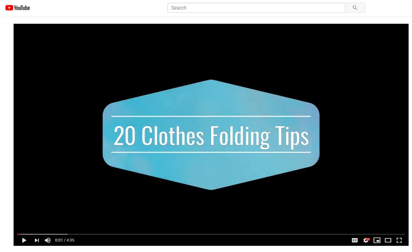 20 Clothes Folding Tips