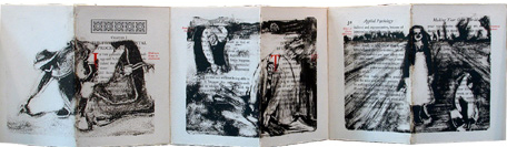 detail from The Gleaners, artist book