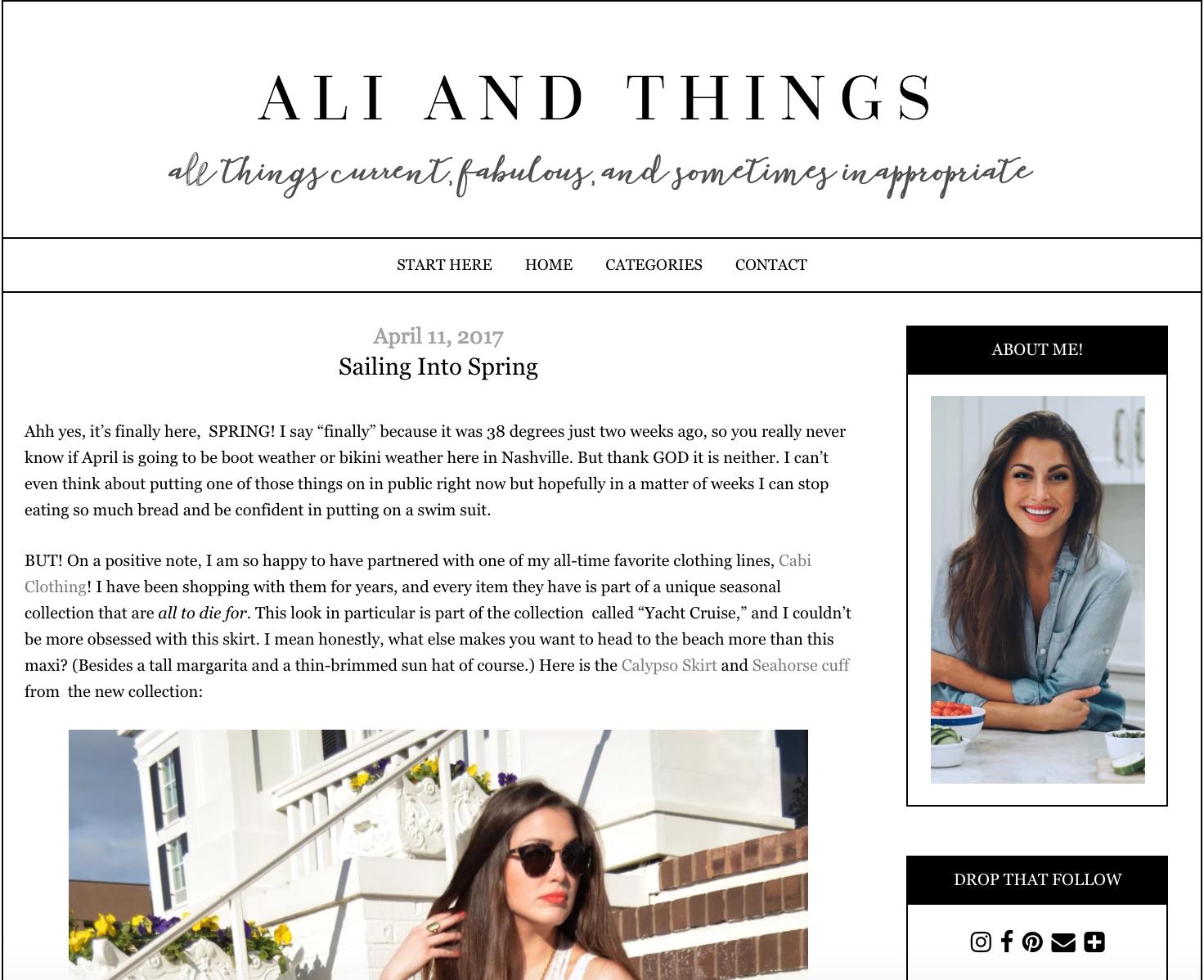 ALI & THINGS -