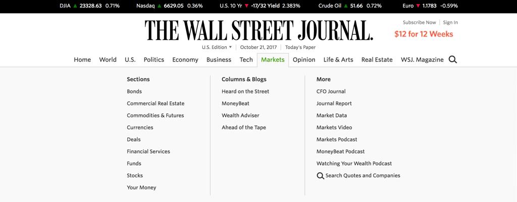 The Wall Street Journal Navigation Bar.png