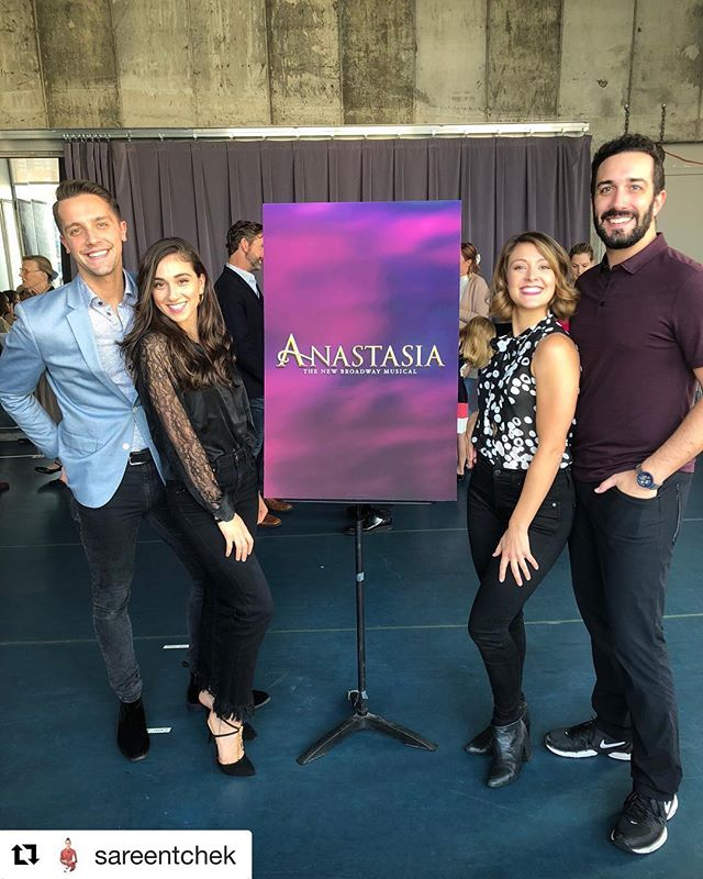 Shoutout to Open Jar Alum Sareen as she heads on tour with Broadway's Anastasia the musical! ... #Repost @sareentchek Team swings on press day! New experiences everyday 😅 we leave for Schenectady tomorrow 🚌 #anastasiabroadway #pressday #swingnation