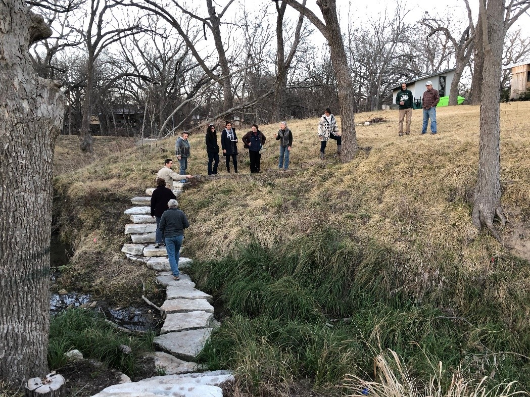 This past January, Suzanne hosted the first of many planned social gatherings designed to facilitate networking by bringing together landowners at sites that provide examples of good riparian stewardship. Photo courtesy of Christine Middleton.