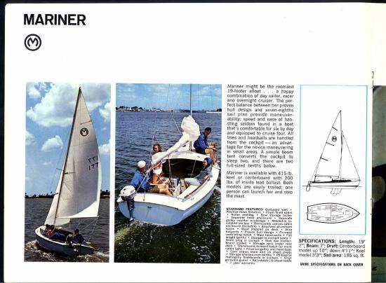1968 O'Day Sailboats Brochure — O'Day Mariner #1922