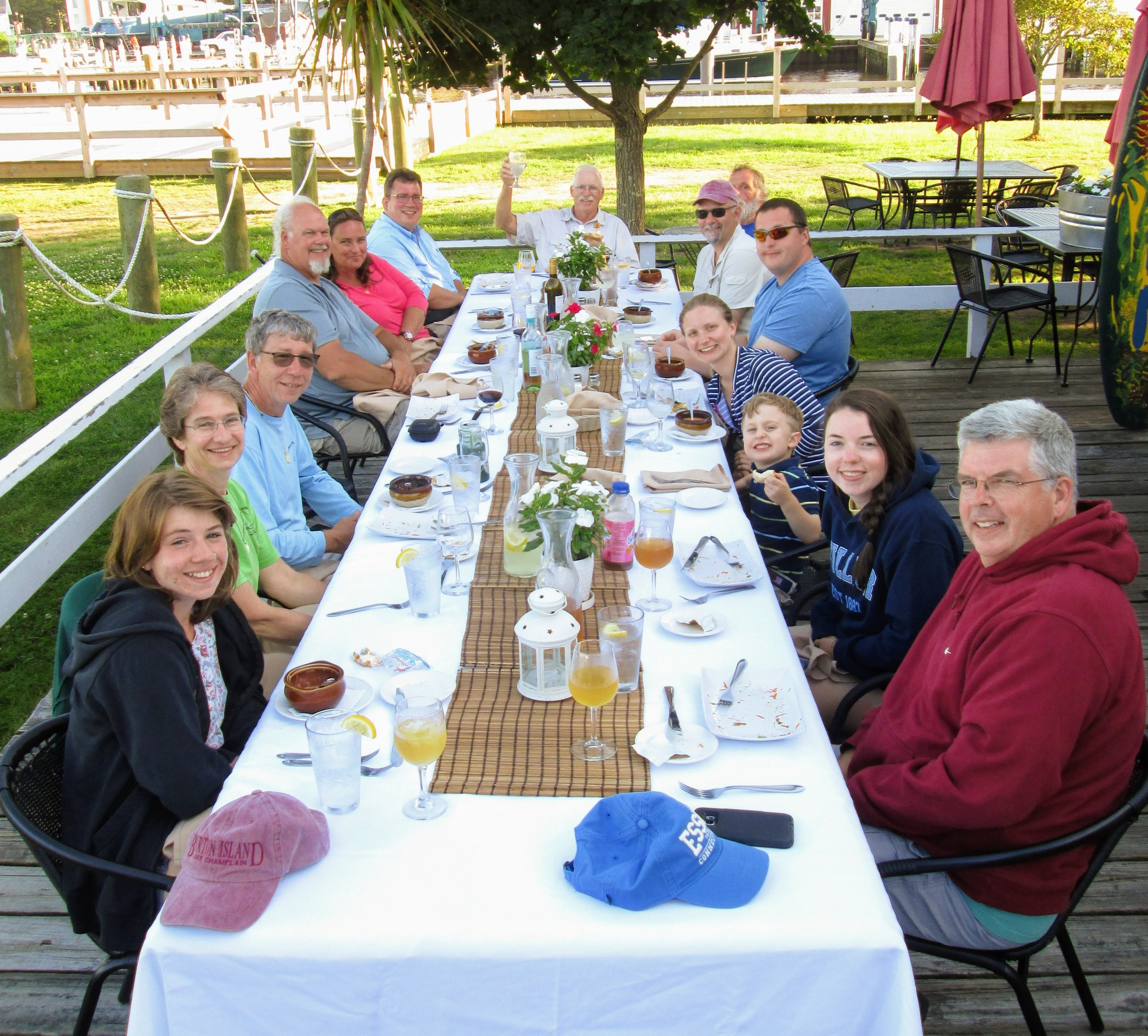 """The """"family reunion"""" in 2017 when we sailed to Essex."""