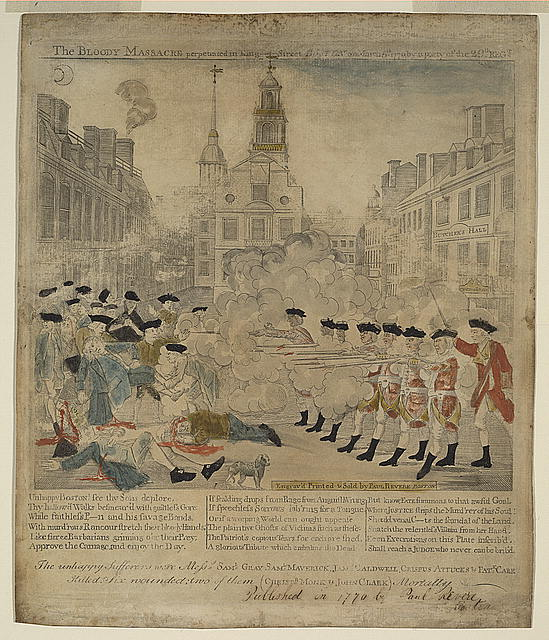 Paul Revere Engraving