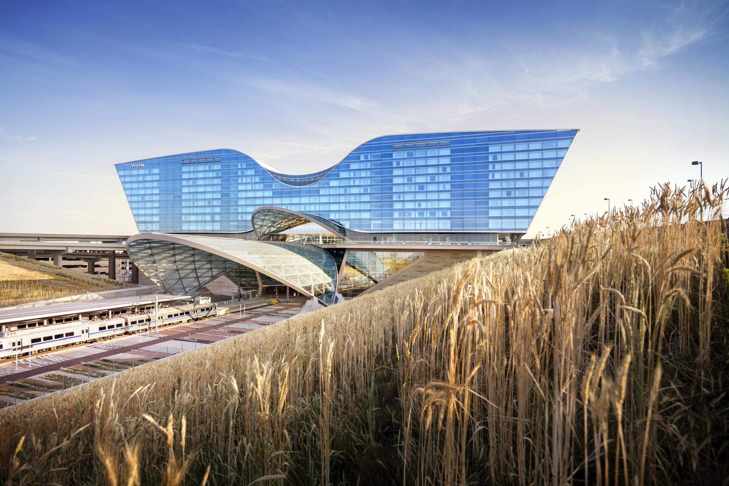 "<img src="" studioINSITE_WestinDEN_Prairie Terminal ""alt=""Denver International Airport, DIA, Denver, CO, Colorado, Airport, Art, Hotel, Transit, Light Rail, Events, Arts, Sculpture, Plaza, Transportation, Terminal, Hub  ""title=""Denver International Airport - Westin Hotel Plaza  ""/>"