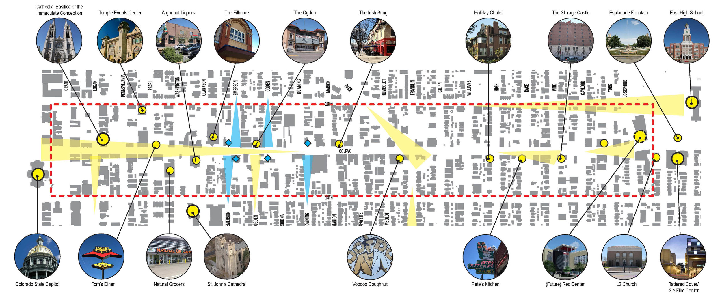 "<img src=""  studioINSITE_E_Colfax_Streetscape_Subareas  ""alt=""Streetscape Design, Master Plan, catalyst Project, Funding Plan, Phasing Plan, Public Outreach, BID, Bus Rapid Transit, Complete Streets, Streetscape Guidlines, Signage and Wayfinding, Public Art, Community Gateways, Landscape Architecture, Urban Design  "" title=""Colfax Avenue Streetscape Design Master Plan  ""/>"