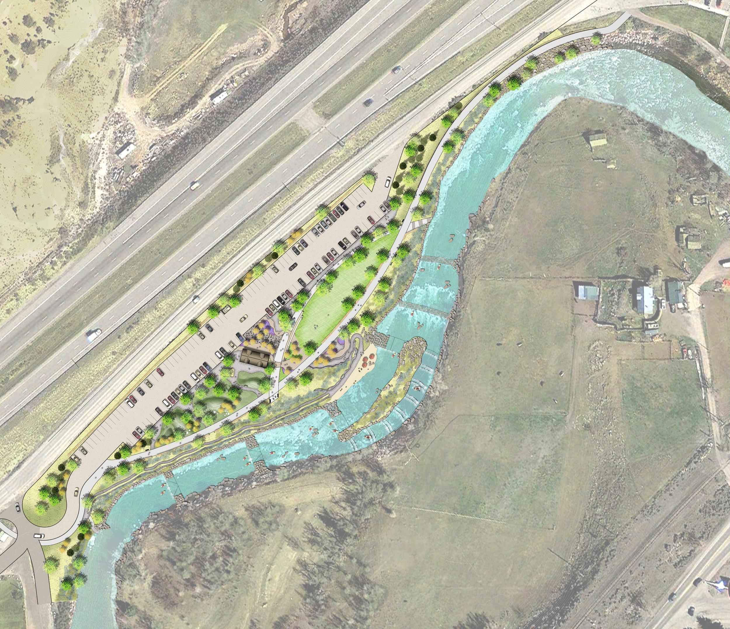 "<img src=""  studioINSITE_Eagle_River_Park_I-70_Perspective  ""alt=""Master Plan, River Corridor, Pedestrian Bridge, Whitewater park, Trail System, Conservation, Mountain Community, Eagle Colorado, Town of Eagle, Eagle River Park, I-70 Corridor,  "" title=""Eagle River Corridor Master Plan  ""/>"