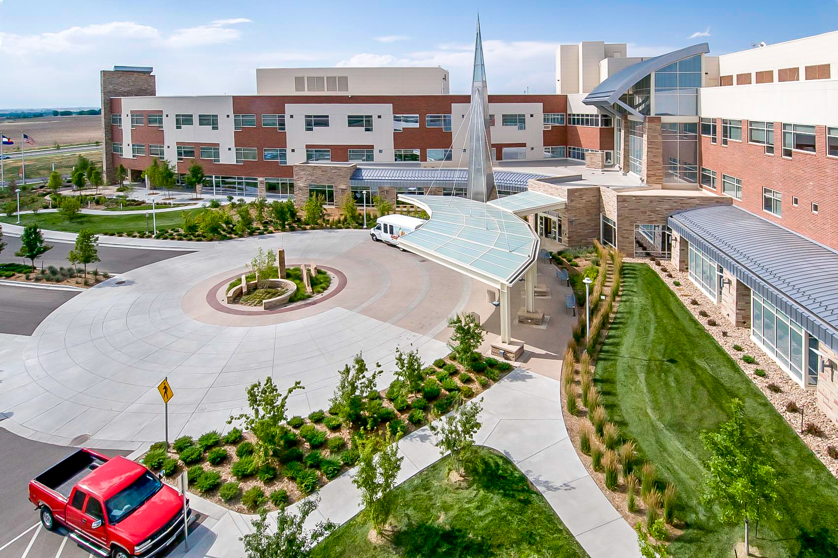 "<img src="" studioINSITE_Platte_Valley_Medical_Center_Drop_Off_Plaza ""alt=""Healing Garden, Medical Campus, Master Plan, Landscape Architecture, Brighton Colorado, Therapeutic Gardens  "" title=""Platte Valley Medical Center""/>"