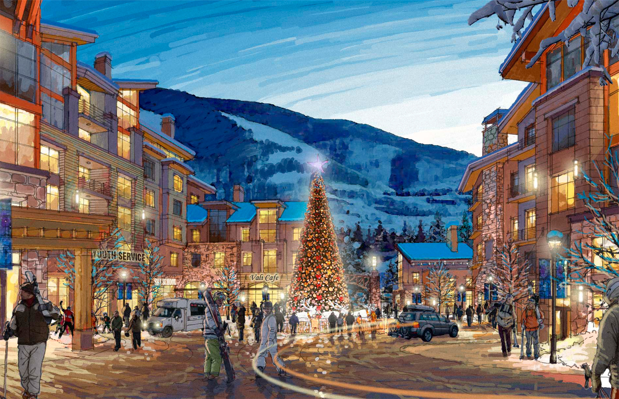 """<img src="""" studioINSITE_Ever_Vail_Village_Illustrative """"alt=""""Vail, Mountain Commnity, Ever Vail, Sking, Snowboarding, Mountain Living, Planning, Landscape Architecture, Mountain Resort, Rocky Mountains, Winter,  """" title=""""Ever Vail""""/>"""