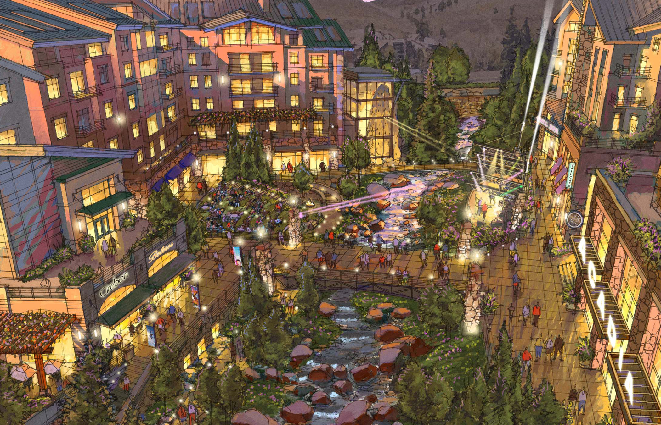 """<img src="""" studioINSITE_Ever_Vail_Creekside Plaza """"alt=""""Vail, Mountain Commnity, Ever Vail, Sking, Snowboarding, Mountain Living, Planning, Landscape Architecture, Mountain Resort, Rocky Mountains, Winter,"""" title=""""Ever Vail""""/> studioINSITE_Ever_Vail_Creekside Plaza"""
