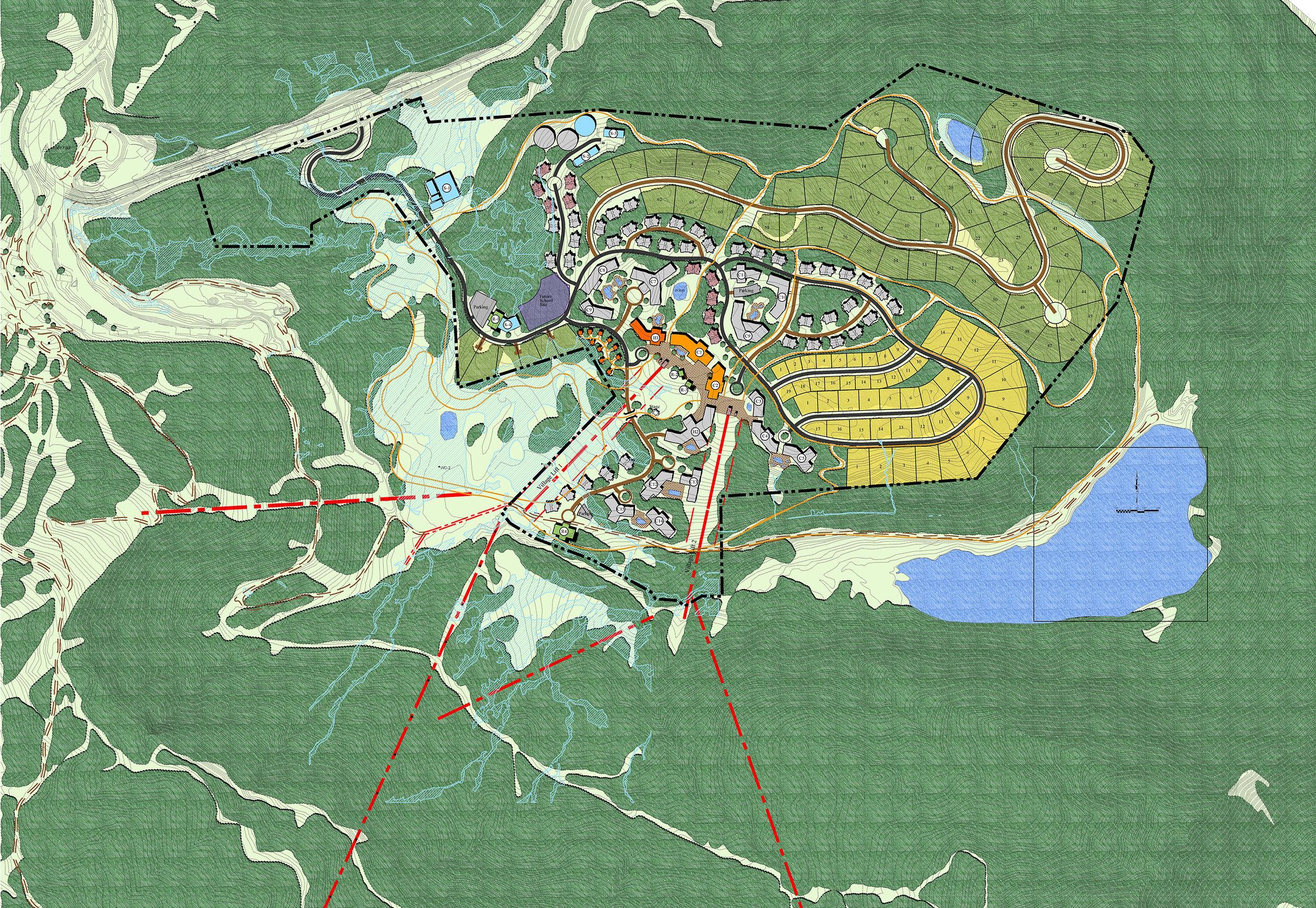 "<img src="" studioINSITE_Village_At_Wolf_Creek_Master_Plan-2 ""alt=""  Mountain resort, hotel, gondola, landscape architecture, Village, Master Plan, 3D Massing    "" title=""Village at Wolf Creek""/>"
